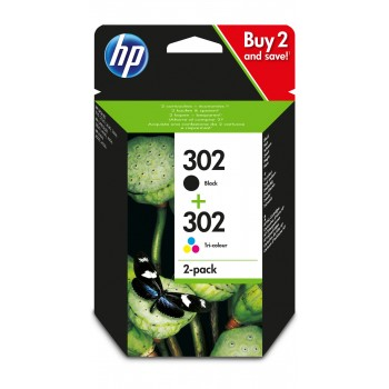 HP 302 ink Sort/Tri-color