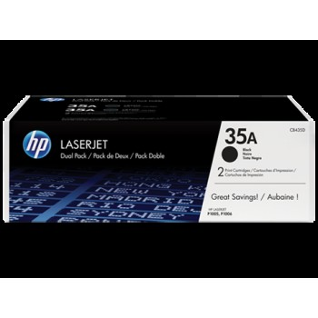 HP Toner 35A black 2-pack
