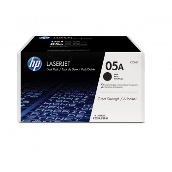 HP Toner 05A black 2-pack CE505D