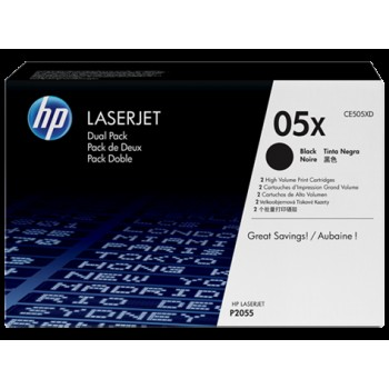 HP 2-pack Toner CE505X black