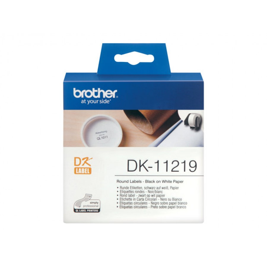 Brother DK-11219, Runde papirlabels